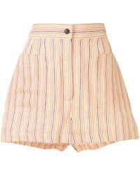Three Graces London Osmo Striped Print Shorts - Orange