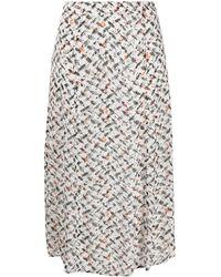Lala Berlin Falda con estampado geométrico - Blanco