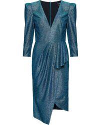 PATBO メタリック ドレス - ブルー