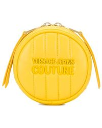 Versace Jeans Quilted Round Coin-purse - Yellow