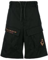 Marcelo Burlon - Fire Cross Cargo Shorts - Lyst