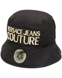 Versace Jeans Couture Embroidered Bucket Hat - Black