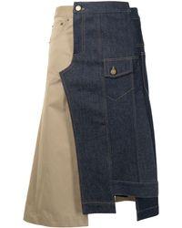 Monse デニムパネル スカート - ブルー