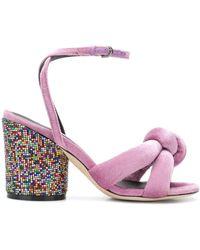 Marco De Vincenzo Glitter Heel Sandals - Розовый