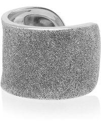 Carolina Bucci - Metallic Silver Florentine Finish White Gold Cuff Ring - Lyst