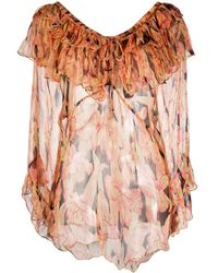 Mes Demoiselles Многослойная Блузка С Цветочным Принтом - Естественный