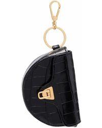 Coccinelle Crocodile-effect Leather Bag - Black