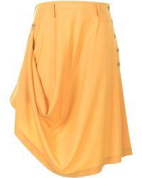 Comme des Garçons Draped Asymmetric-hem Skirt - Yellow