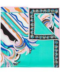 Emilio Pucci Vierkante Sjaal Met Guanabana Print - Groen