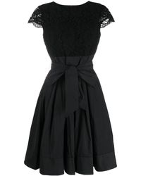 Lauren by Ralph Lauren Flared Tie-waist Dress - Black