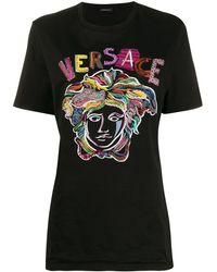 Versace メデューサ Tシャツ - ブラック