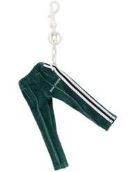 Palm Angels Llavero con colgante de pantalones de chándal - Verde