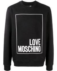 Love Moschino - Logo Patch Sweatshirt - Lyst
