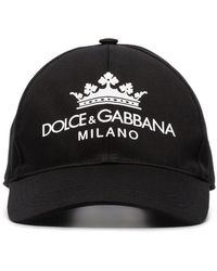 0afa0d3a Dolce & Gabbana Embroidered Crown & Bee Baseball Cap in Black for ...