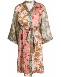 Zimmermann Cassia Spliced Linen Robe - Multicolor