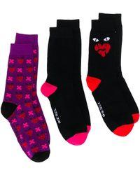 DIESEL 3er-Pack Socken mit Print - Schwarz