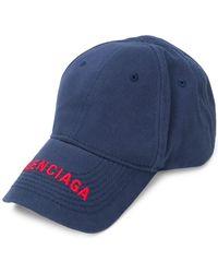 Balenciaga Logo Cap - Blue