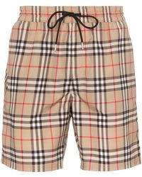 Burberry - Guildes Check Swim Shorts - Lyst