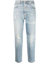 7 For All Mankind - ダメージ クロップドジーンズ - Lyst
