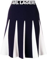 Karl Lagerfeld - Contrasting Stitching Skirt - Lyst