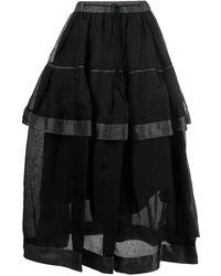 Renli Su レイヤード スカート - ブラック