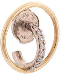Charlotte Chesnais - 18kt Gold Saturn Xs Diamond Hoop Earring - Lyst