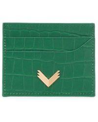 Manokhi カードケース - グリーン