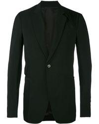 Rick Owens ドレープ装飾 ジャケット - ブラック