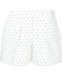 Jil Sander Navy - Micro-print Pleated Shorts - Lyst