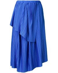 7a6b84a453 Christian Wijnants - Plisse Tiered Skirt - Lyst
