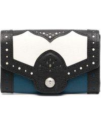 Longchamp Portefeuille à design colour block - Noir