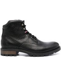 Tommy Hilfiger Ботинки В Стиле Милитари С Нашивкой-логотипом - Черный