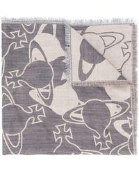 Vivienne Westwood Sjaal Met Orb Print - Grijs