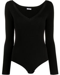 P.A.R.O.S.H. Regina Ribbed Knit Body - Black