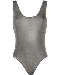 Pinko Body slim metalizado - Gris