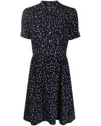 A.P.C. ハートプリント ドレス - ブルー