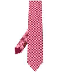 Hermès Cravate à motif géométrique pre-owned - Rouge