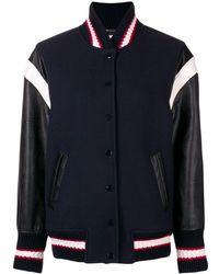 81a3a637a9e Miu Miu Embellished-appliqué Wool Bomber Jacket - Lyst