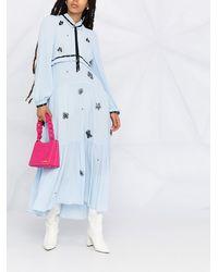 Dorothee Schumacher フローラル シフトドレス - ブルー