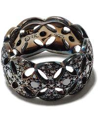 Loree Rodkin Diamond-encrusted Interlocked Ring - Metallic