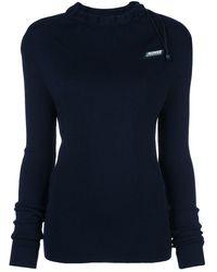 Monse ロゴ スリム セーター - ブルー