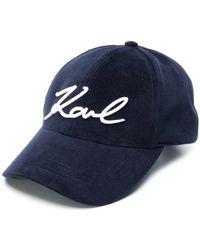 Lyst - Sombrero de Mujer Karl Lagerfeld de color Negro d9012a8e6a1