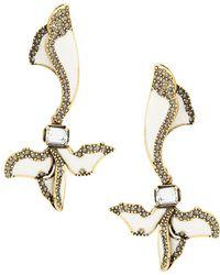 Camila Klein enamelled petal earrings - Metallic ZSYYU7y