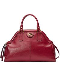 Gucci - Linea Large Leather Top Handle Bag - Lyst