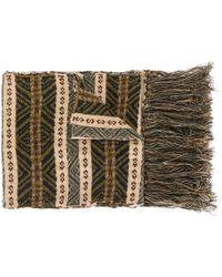 Kent & Curwen Striped Knit Scarf - Brown