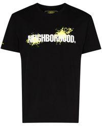 Neighborhood ロゴ Tシャツ - ブラック