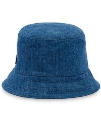 Miu Miu Logo Patch Bucket Hat - Blue