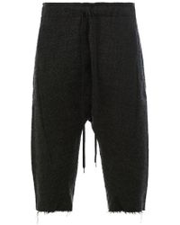 Individual Sentiments - Drawstring Cropped Trousers - Lyst