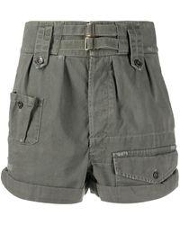 Saint Laurent High-waisted Cargo Shorts - Grey