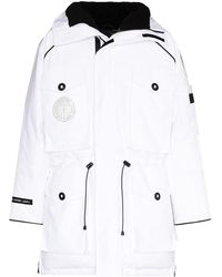 Canada Goose Parka Met Logopatch - Wit